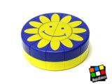 Hockey Puck Puzzle (Blue & Yellow Sunflower)