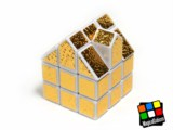 House Cube (golden sticker)